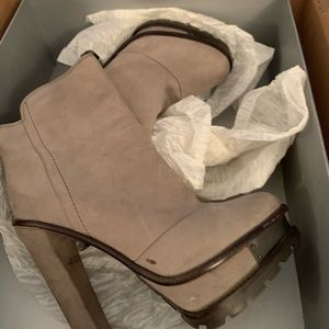 Brian Atwood Terassa grey booties